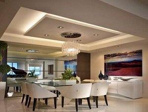 Потолок из гипсокартона в два уровня